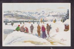 CPA Pellegrini Sport De Neige Sport D'hiver Ski Luge Non Circulé Vouga M5 - Otros Ilustradores