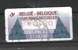 OCB Nr ATM118 Europhila Maasmechelen  Centrale Stempel !! - 2000-...