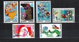 TUNISIE  N° 978 à 983    NEUFS SANS CHARNIERE  COTE  3.50€   CONTE - Tunesië (1956-...)