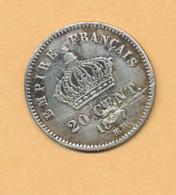 20c Second Empire Diam. 16 Mm 18?7 Argent 835/1000 - France