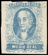 1856. 1/2 R. N1. Rare Forgery.. FALSOS. FAKES. FORGERIES - Mexico