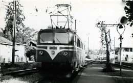 231019B - PHOTO D BREHERET Chemin De Fer Gare Train - 1954 Locomotive CC-20001 SNCF - Stations With Trains