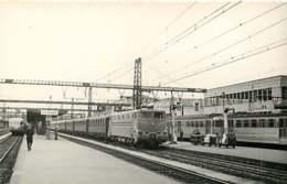 231019B - PHOTO D BREHERET Chemin De Fer Gare Train - Années 1950 LE MANS La Gare Loco BB-9003 SNCF - Le Mans