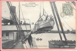 """Saint Nazaire - Chargement Du Yatch """"Sylvia"""" à Bord D'un Vapeur - Saint Nazaire"""