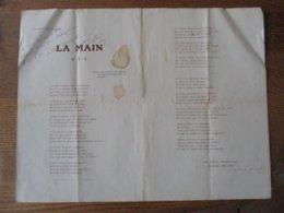 364me REGIMENT D'INFANTERIE AUX ARMEES DECEMBRE 1915 EDOUARD MILLION SOUS LIEUTENANT POEME DEDICACE 1916 LA MAIN - Documents