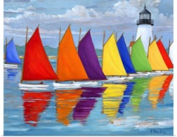 @@@ MAGNET - Sailing, Rainbow Fleet - Publicidad
