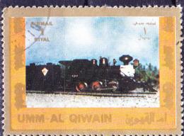 Umm Al-Kaiwain - Dampflokomotive (MiNr: 1215) 1972 - Gest Used Obl - Umm Al-Qaiwain