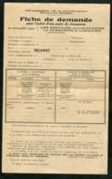 Guerre 39-45 Fiche De Demande Réfugiés Alsaciens Et Lorrains Pour Une Paire De Chaussures - 1939-45