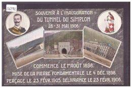 INAUGURATION DU TUNNEL DU SIMPLON 1906  - TB - VS Valais