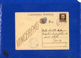 ##(DAN1910)-21-10-1944-Cartolina Postale Vinceremo Cent 30 Da Bronte (Catania) Per Firenze, Bollo Censura,segno Di Tassa - 5. 1944-46 Luogotenenza & Umberto II