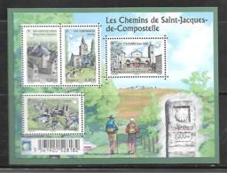France F4725 Les Chemins De St Jacques De Compostelle N++ - Blocks & Kleinbögen