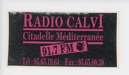 RADIO CALVI Citadelle Méditerranée 91,7 FM (autocollant 14X7) - Autres Communes