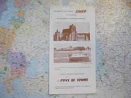 Les Services De Tourisme SNCF Et La Société Les Courriers Automobiles Picard / 2 Circuits Touristiques En Pays De Somme - Publicités