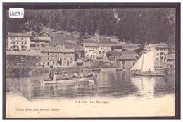 LAC CHAMPEX - PARTIE DE CANOT - B ( LEGER PLI D'ANGLE ) - VS Valais
