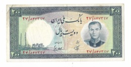 IRAN Billet- Bank Note 200 Rials PICK 70 Issue 1337 / 1958 MRS Tehran Airport - Iran