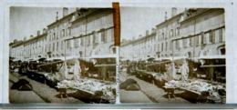 Plaque De Verre - Stéréo - Remiremont - Jour De Marché - Animée - Glass Slides