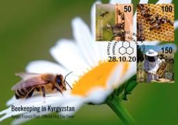 Kyrgyzstan 2019 FDC  Beekeeping In Kyrgyzstan Bee Bees Abeilles Abeille - Honeybees