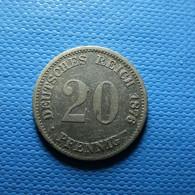 Germany 20 Pfennig 1876 D Silver - 20 Pfennig