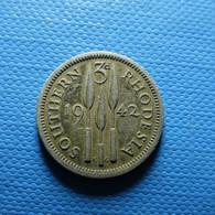 Southern Rhodesia 3 Pence 1942 Silver - Rhodesië