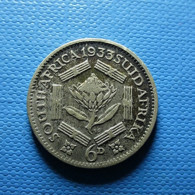 South Africa 6 Pence 1933 Silver - Zuid-Afrika