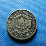 South Africa 6 Pence 1933 Silver - Afrique Du Sud