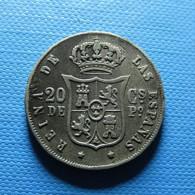 Philippines 20 Centavos De Peso 1868 Silver - Filippijnen