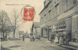 CPA 60 Oise MONNEVILLE Place Durand Delamotte Chaussures Mercerie Bonneterie - Autres Communes