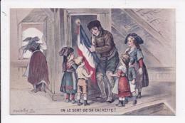 "CP ILLUSTRATEUR DANIELLOT MILITARIA ""on Sort De Sa Cachette"" - Illustrateurs & Photographes"