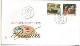 LUXEMBURGO FDC EUROPA CEPT 1975 ARTE PINTURA - Arte