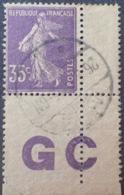 DF40266/733 - 1921 - TYPE SEMEUSE - N°142d ☉PAPIER GC - 1906-38 Semeuse Camée