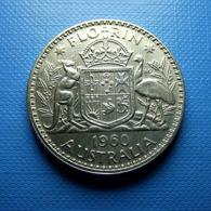 Australia 1 Florin 1960 Silver - Monnaie Pré-décimale (1910-1965)