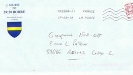 59 - MAIRIE De 59190  BORRE  (avec Timbre) - Entiers Postaux