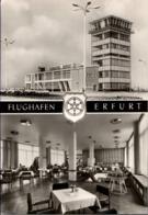 ! Moderne Ansichtskarte, Erfurt, Airport , Flughafen, Aerodrome, Tower - Aeródromos