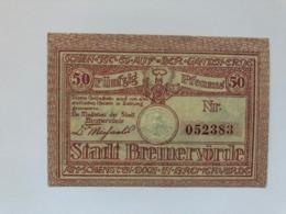 Allemagne Notgeld Bremervorde 50 Pfennig - Collezioni