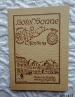 Petit Livret Publicitaire  16 Pages - HOTEL SONNE  OFFENBURG (Allemagne) - Publicités