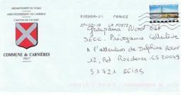 59 - COMMUNE DE CARNIERES - 59217 (avec Timbre) - Entiers Postaux