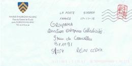 59 - MAIRIE D'AUBIGNY AU BAC - 59165 (avec Timbre) - Entiers Postaux