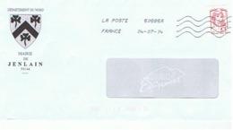 59 - MAIRIE DE JENLAIN - 59144 (avec Timbre) - Entiers Postaux