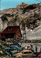 ! Moderne Ansichtskarte, Schweiz, 1958, Säntis Schwebebahn, Schwagalp, Autos, Cars, VW Käfer - Passenger Cars
