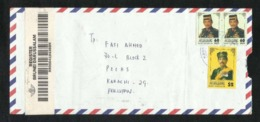 Brunei Registered  Air Mail Postal Used Cover Brunei To Pakistan - Brunei (1984-...)