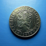 Czechoslovakia 100 Korun 1948 Silver - Tsjechoslowakije
