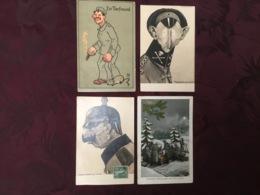 LOT DE 4 CARTES POSTALES 14/18.  /95/ - Guerra 1914-18