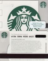 UK STARBUKS - White Siren , CN : 6136, Unused - Gift Cards