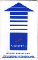 BULGARIA   KEY HOTEL  Novotel Europa - SOFIA - Hotel Keycards