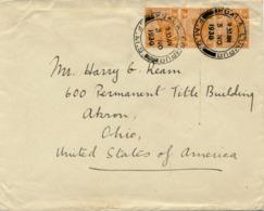 MALAYA / KUALA LUMPUR  (Perak)   - 1930 , Letter To Akron / Ohio / USA  -  Big Letter, Dispatch = 4,20 EURO - Malayan Postal Union