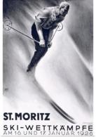 @@@ MAGNET - St. Moritz, Ski Wettkampfe - Advertising