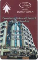 BULGARIA   KEY HOTEL  Hotel Downtown - Sofia - Hotel Keycards