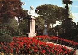 Cartolina Catanzaro Villa Trieste Statua - Catanzaro
