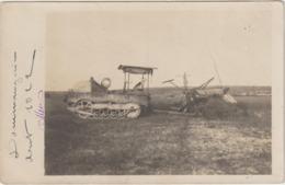 CPA   TRACTEUR MOISSON  CARTE PHOTO A SITUE - Tracteurs