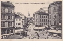 Linz * Taubenmarkt, Blick Gegen Die Promenade, Tram, Geschäfte, Pferd * Österreich * AK1564 - Linz